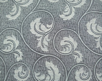 Upholstery Fabric, Taupe, Grey and Tan, Swirly Design, Beautiful, High Quality