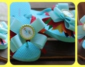 My little Pony Rainbow Dash flip flops with bows any size