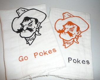 Custom OSU Burp Cloth