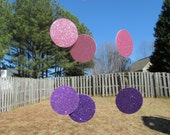 Garland -Purple and Light Pink  Holidays, Birthdays, Weddings, Showers, Girls Celebration Parties 7 Feet