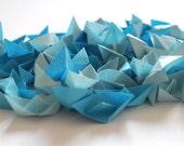 Mini Origami Blue Boats x 100 - Paper Goods