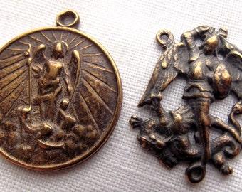 Bronze St Michael the Archangel Chaplet Set