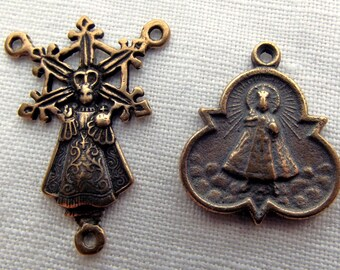 Bronze Infant of Prague Chaplet Set