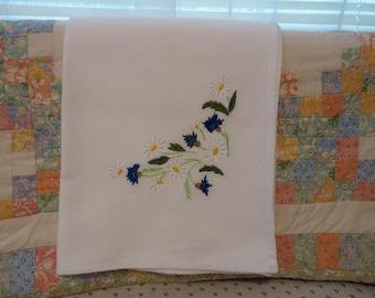 Daisys and Thistles Flour Sack Dish Towel