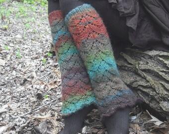 Knit Leg Warmers, Women's Leg Warmers, Festival Leg Warmers, Pixie Leg Warmers, Colorful Leg Warmers,  Made To Order