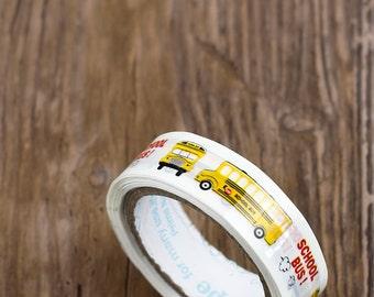 Pvc adhesive tape - yellow school bus