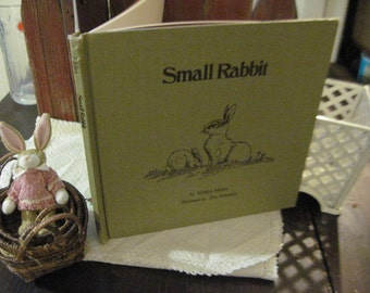 Small Rabbit Book By Miska Miles  Hard Cover 1977