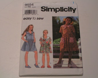 Simplicity Pattern 9554 easy to sew Girl Dress