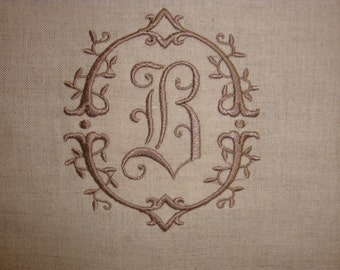 Linen Guest Towel Oatmeal Color Monogrammed
