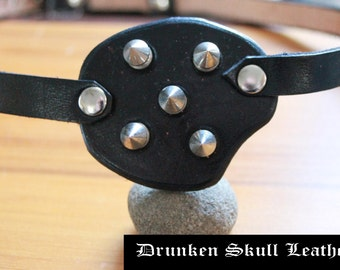custom made leather eye patch with spikes.