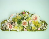 Moss Cloud 3d wall hanging sculpture OOAK
