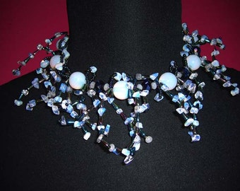 Spikey Moonstone Necklace
