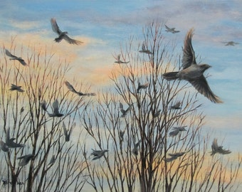 Fly - Original Bird Painting