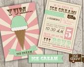 Retro Ice Cream Invite