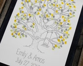 Large Thumbprint Tree Guest Book with Swing Detail (fits 160-220 guests)