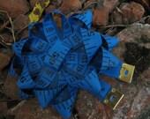 Measuring Tape Corsage Pin Skinny Blue