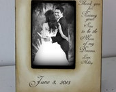 Wedding Sign Decor Gift Thank you for Raising your son to be the Man of my Dreams. Mother of the Groom GIft Wedding 4x6 Picture Frame 5x7