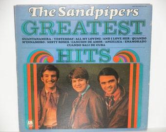"The Sandpipers Greatest Hits - ""Guantanamera"" - ""Yesterday"" - Folk Rock - A&M Records 1970 - Vintage Gatefold Vinyl LP Record Album"
