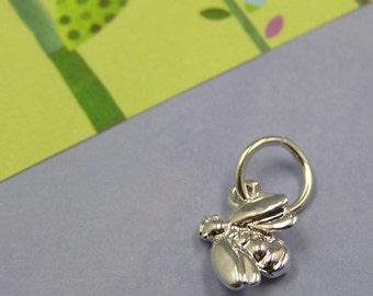 Silver Bumble Bee Honey Bee Insect Charm