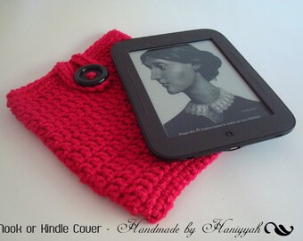 Nook Simple Touch cover Case Sleeve Jacket Bag - Handmade Crochet