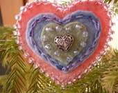 Heart Brooch, Birthday or Mother's Day Brooch, One of a Kind, Felt Waldorf Brooch