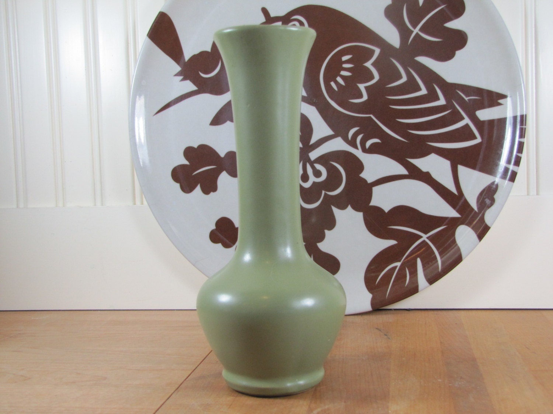 Mccoy Floraline Sage Green Vase Floraline Mccoy Vase Green