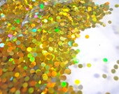 SALE Holographic Gold Dots 2mm Glitter 1/2 Ounce Circles Medium Glitter Frankening Nail Polish Supply