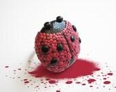 "Ladybug ring / OOAK handmade polymer clay ring, fun jewelry, love / ""Love Symbol"" /"