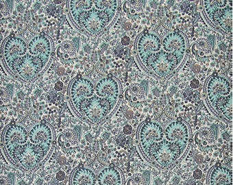 "Paisley Heart Oxford Cotton Fabric - Mint - per Yard (43 x 36"") 37330 - 191"