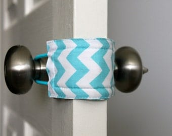 Latchy Catchy in Teal Chevron  (Patented)