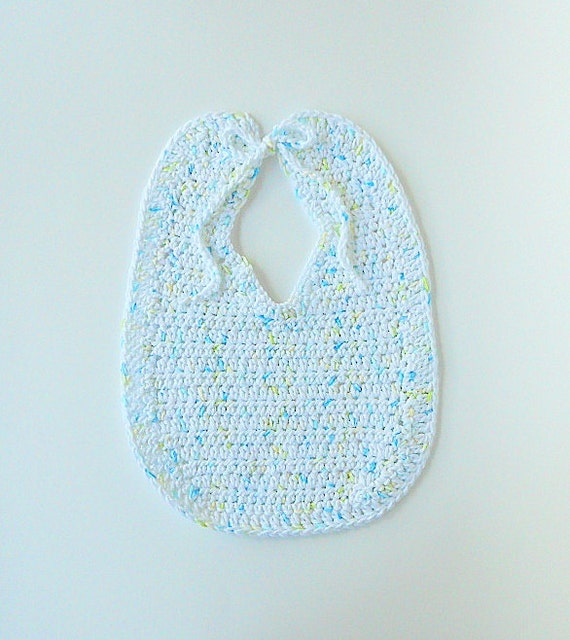 White With Green Yellow Blue Girl Baby Bib  Infant Boy Cotton Feeding Accessory For Newborn To Toddler