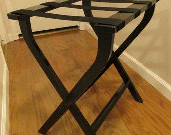 Hand made (USA)  pine folding Luggage rack /stand