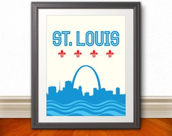 St. Louis, St. Louis Skyline, St. Louis Arch, St. Louis Print, St. Louis Poster, St. Louis Sign