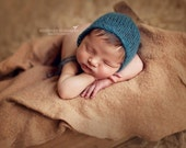 Simply Knit, Newborn Baby Girl, Mohair Bonnet, Cream, Ivory, Photography Prop, Photo Prop baby Boy, Infant Girl Beanie,