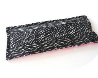 Aromatherapy Lavender Eye Pillow, Zebra animal Print Flannel, Hot Pink Polka Dot Flannel Herbal Dream Pillow