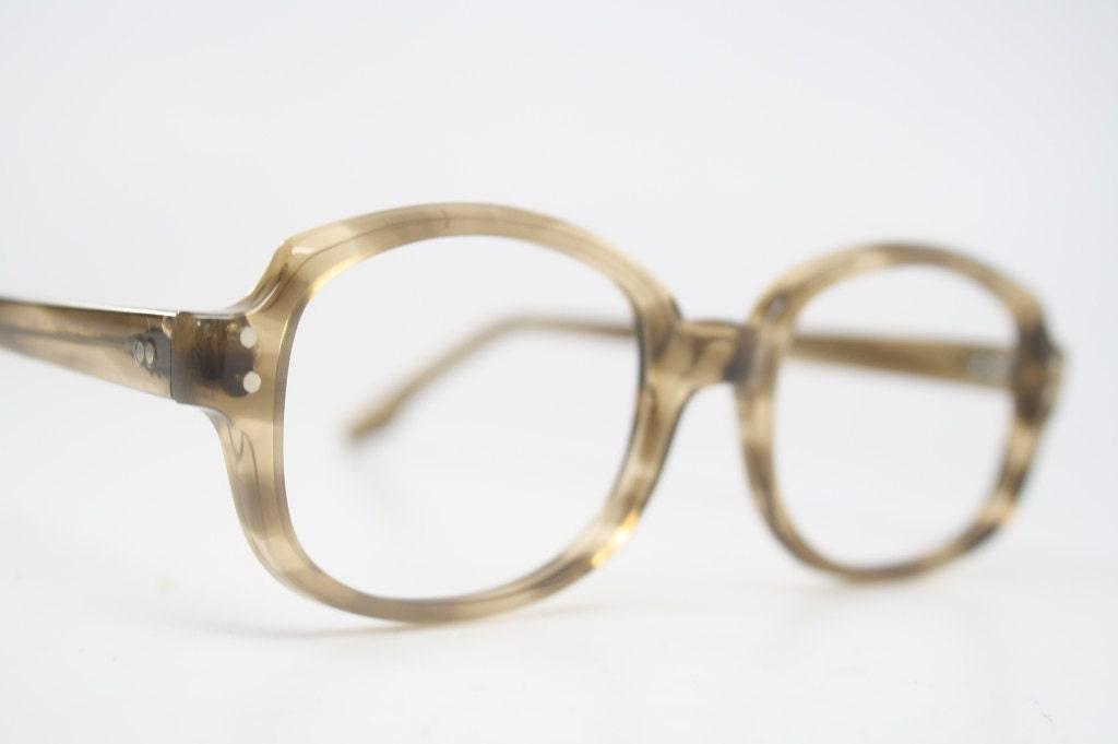 Vintage Eyeglass Frame : Vintage Eyewear Retro Eyeglass Frames Black by PinceNezShop