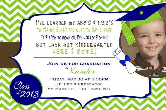 Tarjeta de graduación de preescolar - Imagui