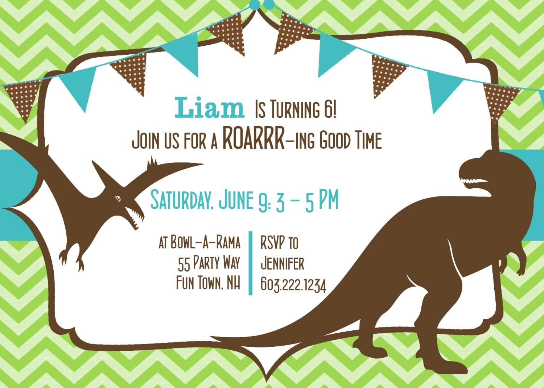 Dinosaur Invitation Templates for nice invitation template