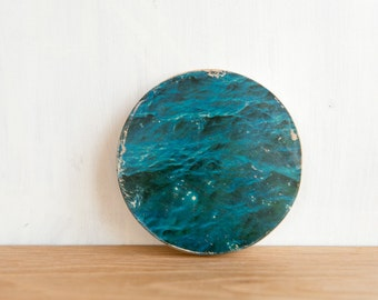 Circle Photo Art Mini - 'Water' Transfer on Wood by Patrick Lajoie Fine Art Photography