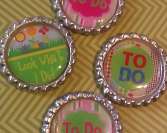 Set of 4 - Bottlecap Magnets