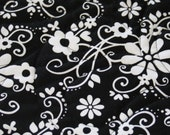 Queen Size Black and White Quilt