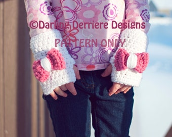 PDF Instant Download Fingerless Glove Pattern, toddler-adult sizes PATTERN ONLY