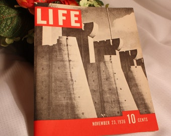 Vintage Collectible Life Magazine Issue 23, 1936