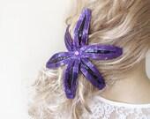Purple Flower Hair Clip, Purple  Hair, Flower Hair, Hair Accessories, Wedding Accessories