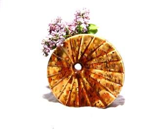 50s/60s Ceramic Wheel Vase/ Decor
