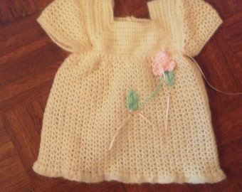 sz 6 to9mo soft crocheted dress