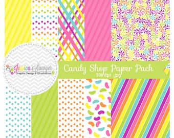 INSTANT DOWNLOAD,  candy background - rainbow whimsical digital paper - printable paper - card maing, invite design, scrapbook