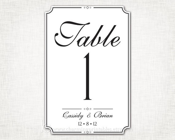 table numbers template for weddings - 301 moved permanently