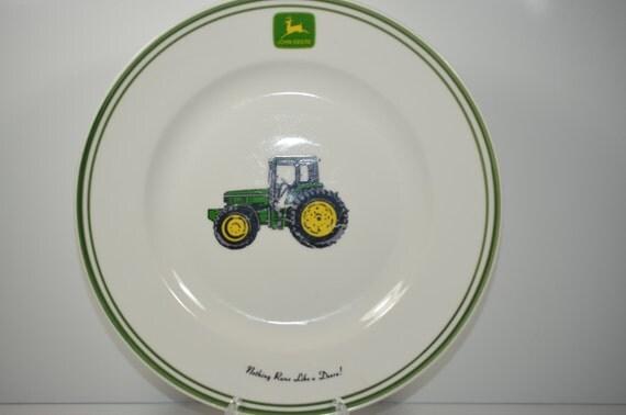 John Deere Ledger Plates : John deere vintage collector s plate display souvenir wall