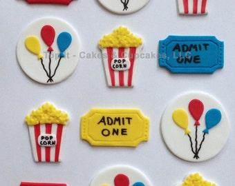 Fondant Cupcake Toppers - Carnival/Circus